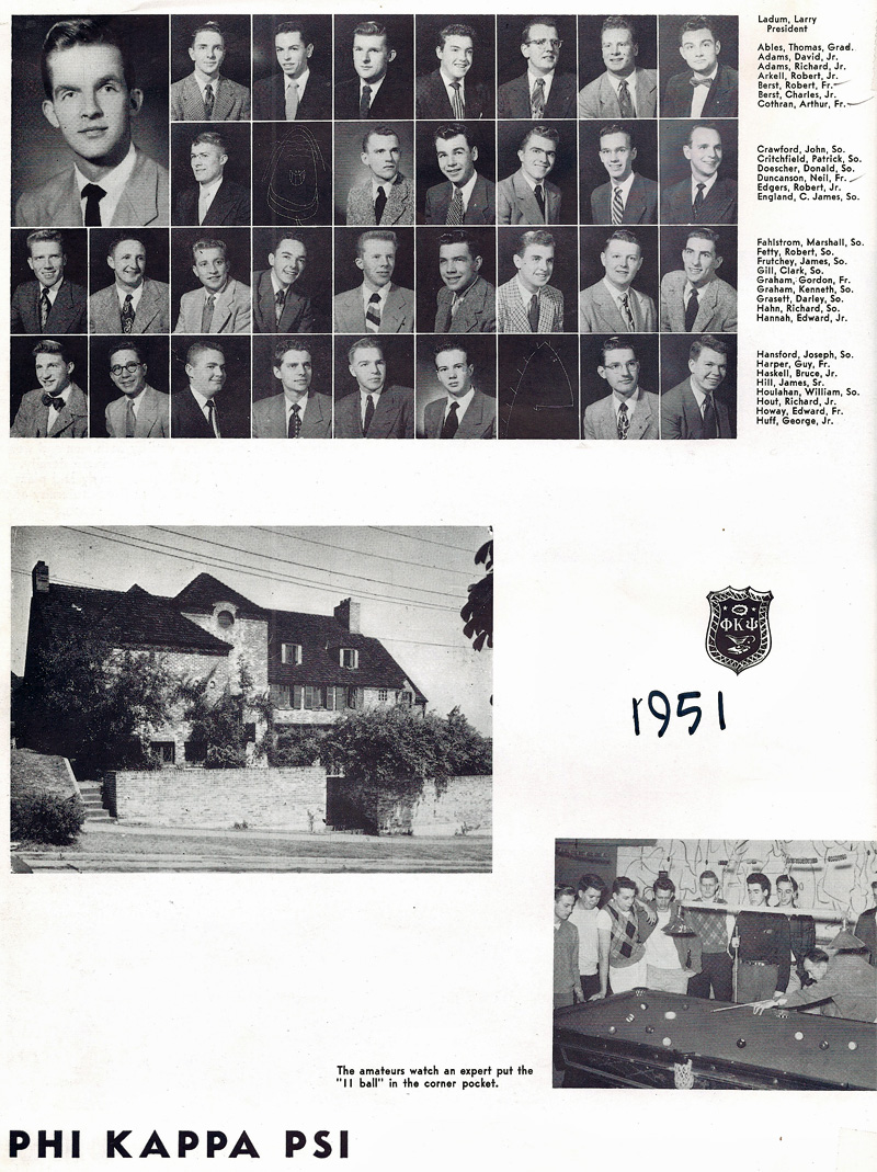 Old UW Photos - Phi Kappa Psi Fraternity 1